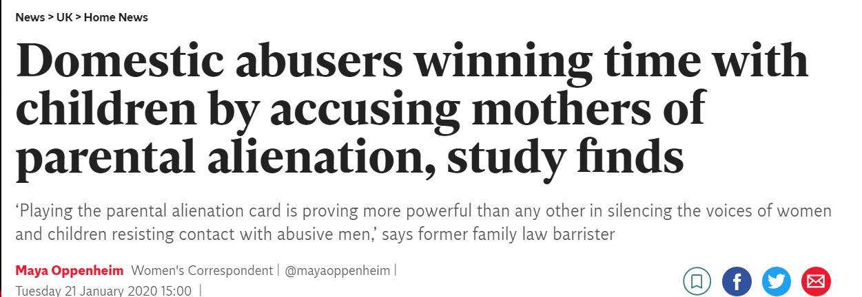 PARENTAL ALIENATION IS FAKE